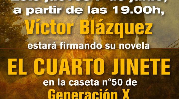 """El Cuarto Jinete"""" sigue en la feria del libro de Madrid ..."""